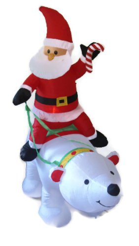 Airblown Inflatable 4 ft. Christmas Santa Riding