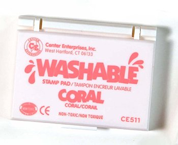 14 Pack CENTER ENTERPRISES INC. STAMP PAD WASHABLE CORAL