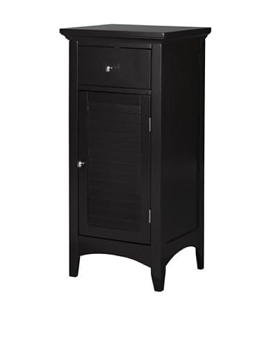 Elegant Home Fashions Slone Floor Cabinet with Shutter Door and Drawer, Dark Espresso