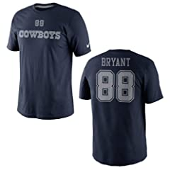 Dallas Cowboys Dez Bryant Tee 2 Nike Navy Name and Number T-Shirt by Nike