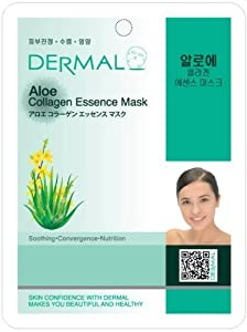Dermal Korea Collagen Essence Facial Mask Sheet - Aloe (10 pack)