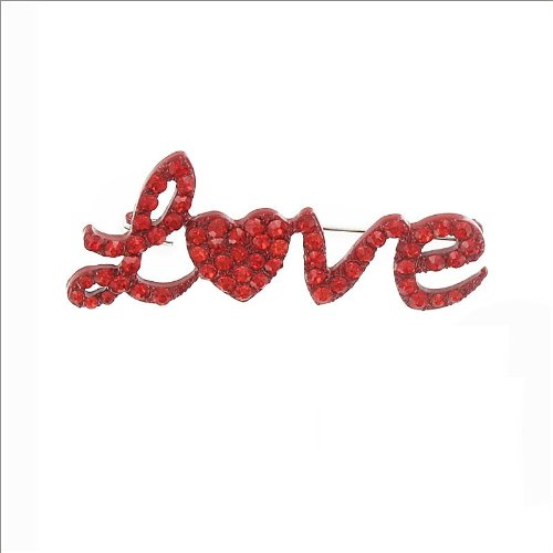 Love Sign W Heart & Stone Pin #035221