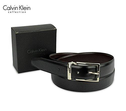 CK014 Cintura da uomo in vera pelle CALVIN KLEIN nera taglia 110/125. MEDIA WAVE store ®