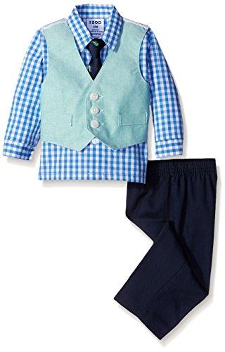 IZOD Chambray Vest Set, Green, 6-9 Months