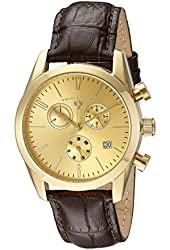 Swiss Legend Men's 22038C-YG-10-BRWS Peninsula Analog Display Swiss Quartz Brown Watch
