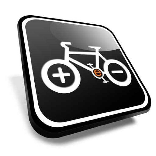 Urban Wall Decals Electric Bike - 24 Inches X 24 Inches - Peel And Stick Removable Graphic