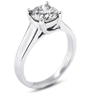 2.40 CT Exc-Cut Round E-VVS2 GIA Cert Diamond Platinum Trellis Solitaire Engagement Ring 7.80gr