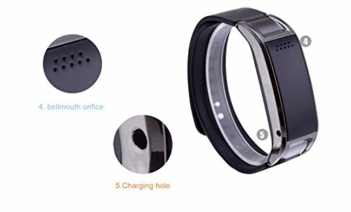 "Lincass D8s Bluetooth 0.49"" Bracelet Smart Band Watch Smartwatch for Samsung HTC Lg Huawei Android Phone (Black)"