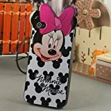 Minnie Mouse iphone 4 and 4s Thick Silicone Hard Gel TPU Back Case Cover milk plus deco fairy branded LCD screen protector