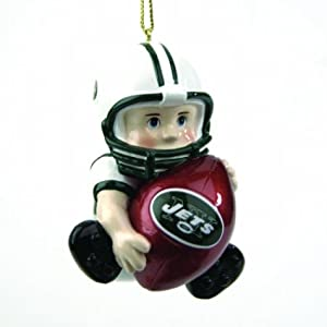 SC Sports New York Jets Little Team Player Ornament- Set of 3 - New York Jets Set of... by SC Sports