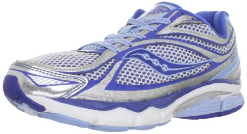 SAUCONY Pro Grid Omni 11 Ladies Running Shoes, Silver/Blue/White, UK7