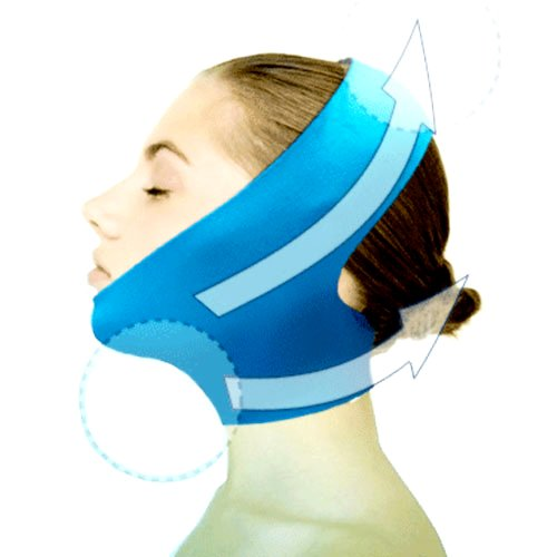 New Version Beauty V-Line Face Chin Neck Facial Skin Lift Up Belt Mask - Blue by Dexac (Face Garments compare prices)