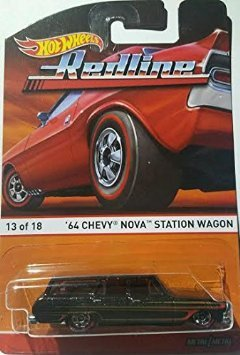 `64 CHEVY NOVA STATION WAGON (13 of 18) * Redlines / Heritage Series * 2015 Hot Wheels 1:64 Scale Die-Cast Vehicle