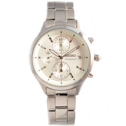 Seiko Chronograph Silver Dial Stainless Steel Ladies Watch Sndx11