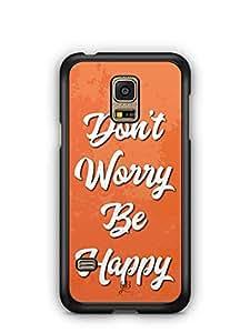 YuBingo Don't Worry. Be Happy Designer Mobile Case Back Cover for Samsung Galaxy S5 Mini