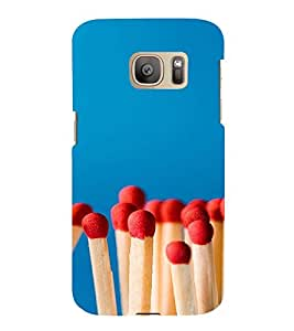 PrintVisa Cute Matchstick Pattern 3D Hard Polycarbonate Designer Back Case Cover for Samsung Galaxy S7 Edge