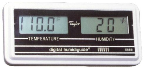 Taylor Digital Thermometer/Hygrometer Combination Unit, -58 to 158 Degrees F