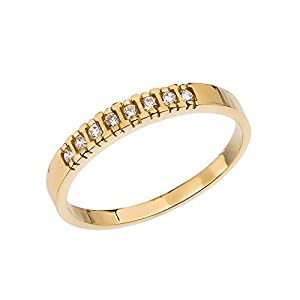 Diamond 14k Yellow Gold Wedding Band (Size 11.75)