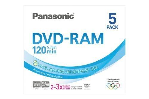 PANASONIC DVD RAM 4.7Gb Pack 5