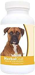 Healthy Breeds Herbal Coat and Skin Support Chewables,  Boxer  / 60 Count
