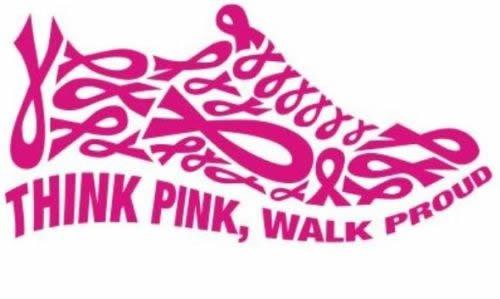 "Think Pink, Walk Proud 6"" Pink Vinyl Car Truck Decal Sticker Cancer Awareness Lifestyle Pride"