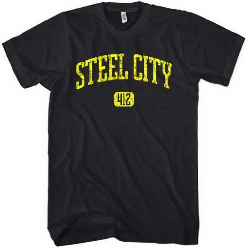 Steel City 412 Pittsburgh Men's T-shirt by Smash Vintage