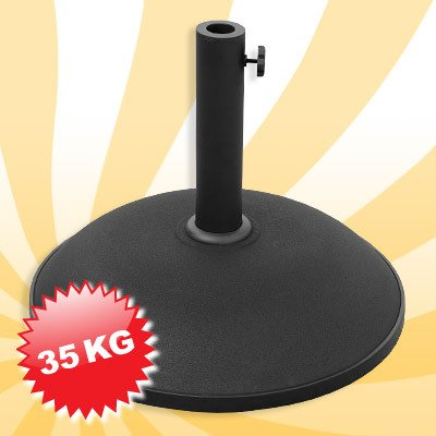 Beton Sonnenschirmständer Sonnen schirm fuß, Betonständer aus schwarzem Zement 35 kg – 511627 günstig bestellen
