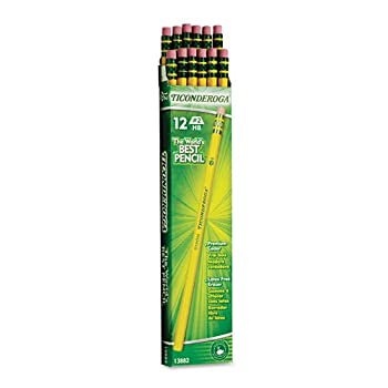 Set A Shopping Price Drop Alert For Dixon Ticonderoga Wood-Cased #2 Pencils, Box of 12, Yellow (13882)