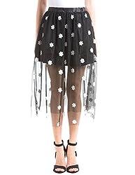 Shuffle Women's Skinny Skirt (1021518601_Black_Small)