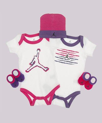 """Jordan """"Magic Markers"""" 5-Piece Gift Set (Size 0-6M) - white/pink, 0-6 mos."""