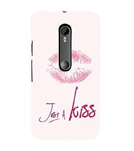 EPICCASE Just a kiss Mobile Back Case Cover For Moto G Turbo (Designer Case)