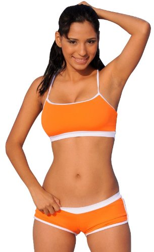 Bandeau Swimsuit Top F205 Citrus Sport Suit Bikini Top M