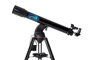 Celestron AstroFi 130 Wi-Fi Reflector Wireless experience Reflecting Telescope, Black (22203)