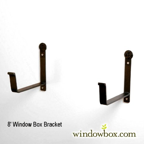 Window Box Bracket- 8in. Shelf (Pair)