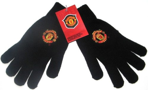 Image of Manchester United Fc Gloves Black (B000W4JPEQ)