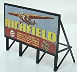 HO Scale 1930s Gas Station Custom Billboard - Assembled