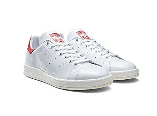 (アディダス) adidas STAN SMITH LUXE W スタンスミス レディース 24.5 FtwrWhite/CollegiateRed [並行輸入品]