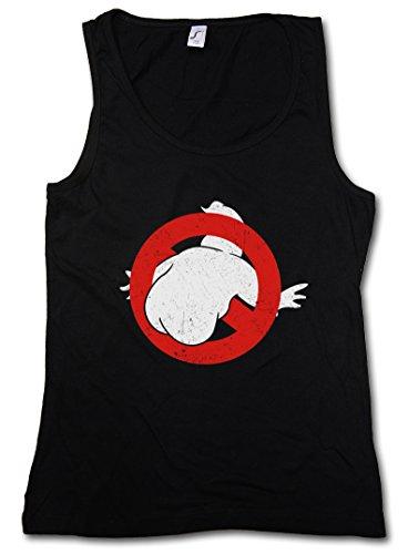 "BUTTBUSTERS ""J"" DONNA CANOTTA TANK TOP - Gli Movie Fun Acchiappafantasmi Ghostbusters Insignia Parody Logo Sign Taglie S - 5XL"