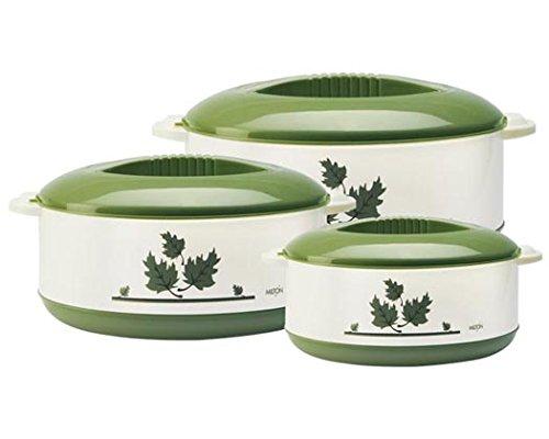 Milton Orchid Junior Insulated Casserole Set, 3-Pieces, Green