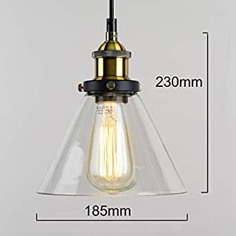 winsoon 7 x 9 inch vintage industrial ceiling l clear