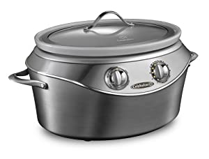 Calphalon HE700SC Stainless-Steel Slow Cooker with 7-Quart Ceramic Crock