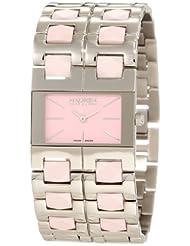 Haurex Italy Women's XA327DP1 Luna Pink Dial Watch