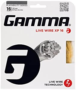 Gamma Live Wire XP 16G Tennis String, Natural