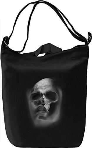 Faded Skull Face Borsa Giornaliera Canvas Canvas Day Bag| 100% Premium Cotton Canvas| DTG Printing|