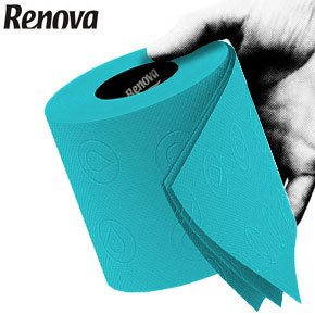 Renova Toilet Roll - Blue Paper (6 Roll Standard Pack) (Colored Toilet Paper compare prices)