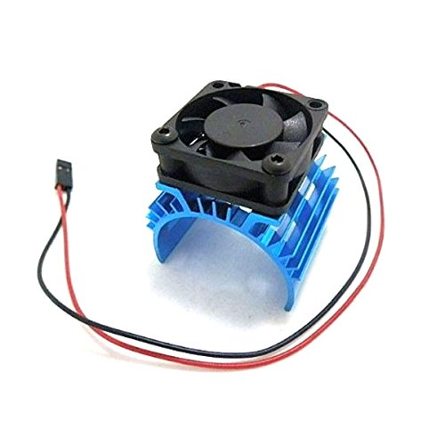 Foxnovo Durable Aluminum Alloy Heatsink Heat Sink with 5V Cooling Fan for 110 Car 540 550 3650 Size Motor - 1