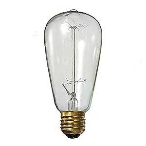 Tenflyer ST64 Antique Retro Vintage E27 40W 220V Edison Light Bulb Incandescent Light Squirrel-cage Led Filament Bulb from Tenflyer