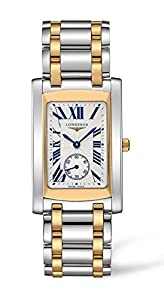 Longines Dolce Vita Stainless Steel & 18k Gold Mens Luxury Watch Silver Dial L5.655.5.70.7