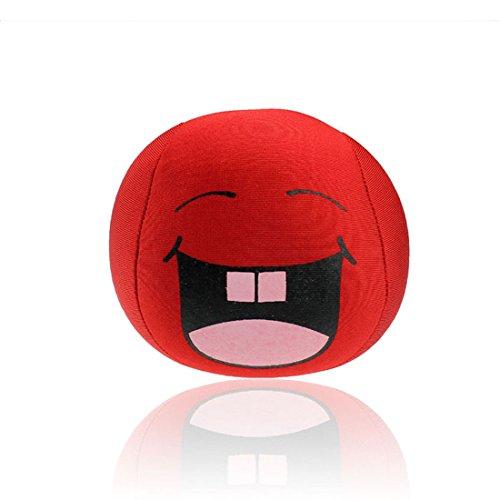 Ukamshop niedlich emoji smiley Kissen Weichen Cartoon Kissen Spielzeug 10 * 10cm (rot)