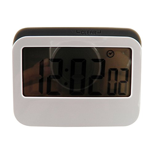 Kaimo Multi-function Digital Magnetic Kitchen Timer with Loud Alarm, Large LCD Screen and Stand, 24 Hour Sillicone-bound Timer with 3 Mode, Count Down / Up and Clock - Grey (Duck Egg Timer compare prices)